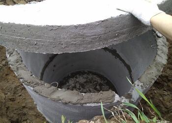 однокамерный септик из бетонных колец без дна